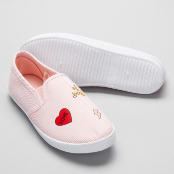 Little Missy Striped Slip-On Shoes