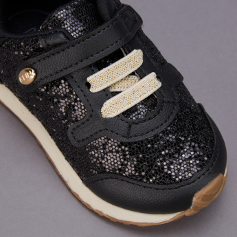 Klin Embellished Sneakers with Hook and Loop Closure