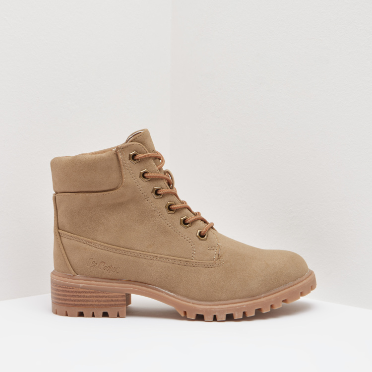 Lee Cooper Ankle Boots with Lace-Up Closure