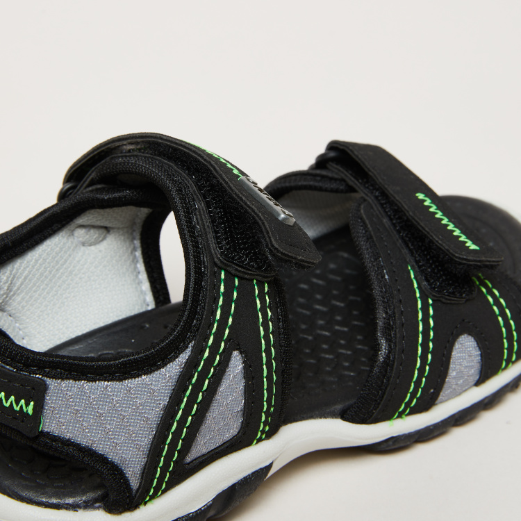 KLIN Stitch Detail Sandals with Hook and Loop Closure