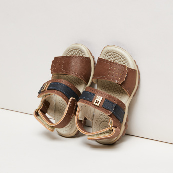 KLIN Perforated Sandals with Stitch Detail and Hook and Loop Closure