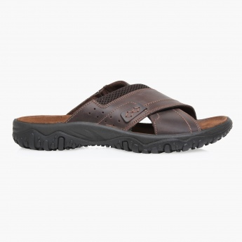 Imac Leather Cross Strap Sandals