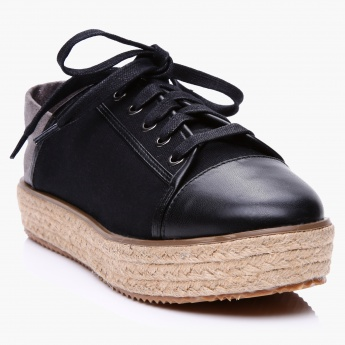 Lee Cooper Espadrille Lace-Up Shoes