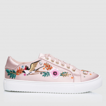 Elle Embellished Lace-Up Sneakers