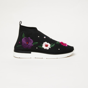 Elle Embroidered Slip-On Sneakers