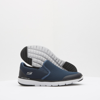 Skechers Slip-On Walking Shoes with Elasticised Gussets