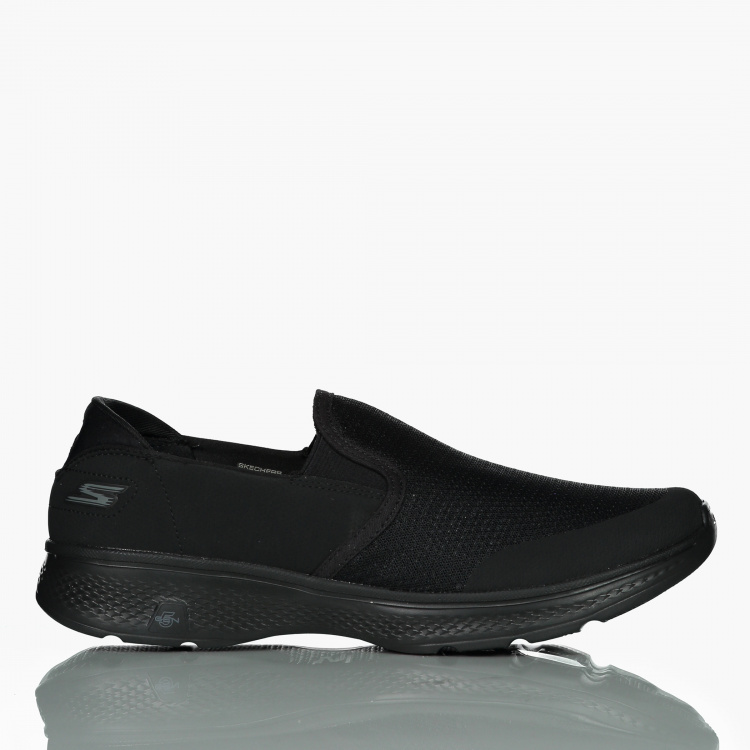 Skechers Men's Textured Slip On Shoes with Elasticised Gussets