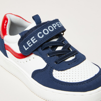 Lee Cooper Stitch Detail Sneakers with Hook and Loop Strap