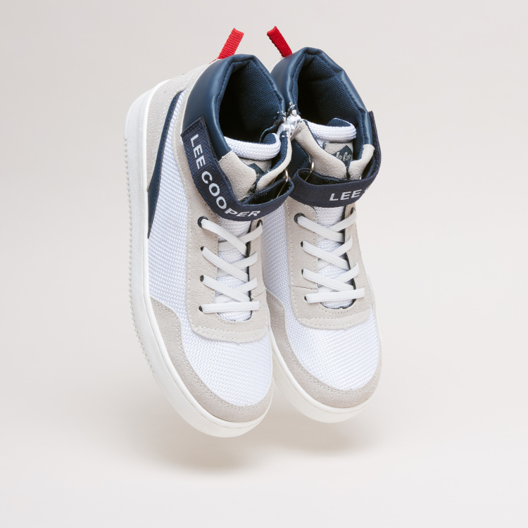 Lee Cooper High Top Shoes with Side Zip Closure