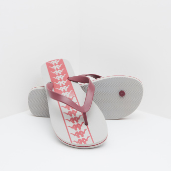 Kappa Printed Slippers with Slip-On Closure