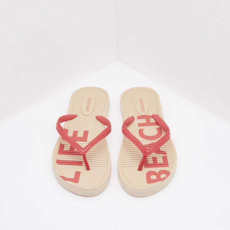 Printed Flip Flop Slippers