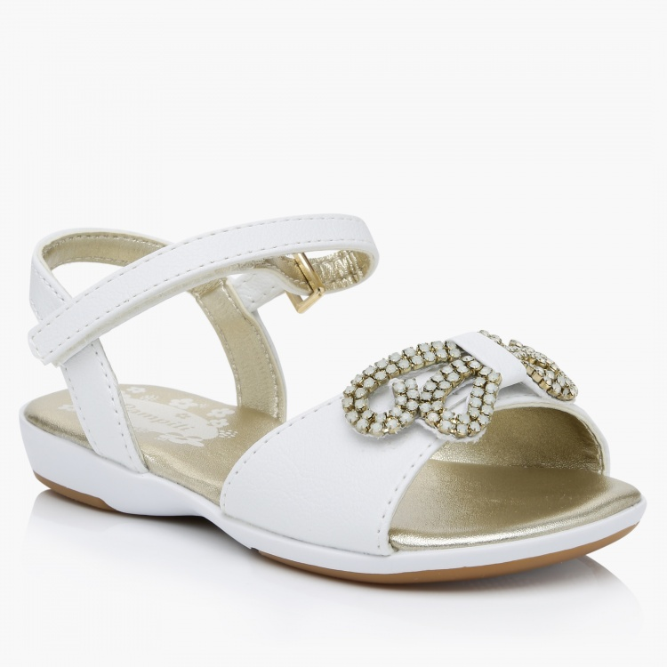Pampili Embellished Hook and Loop Sandals