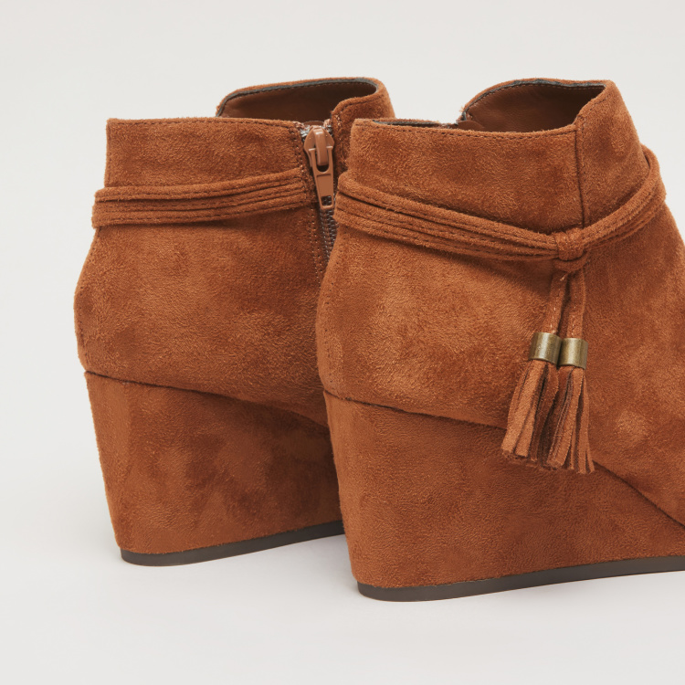 Tassel Detail Boots with Zip Closure