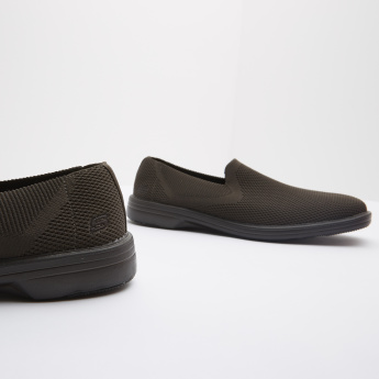 Skechers Mesh Slip-On Shoes with Ribbed Sides