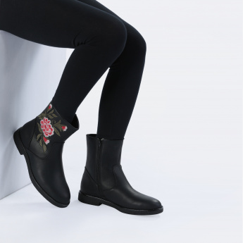 Paprika Embroidered Boots