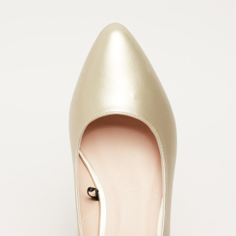 Slip-On Kitten Heel Pumps