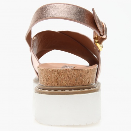 Paprika Flat Cross Over Strap Sandals