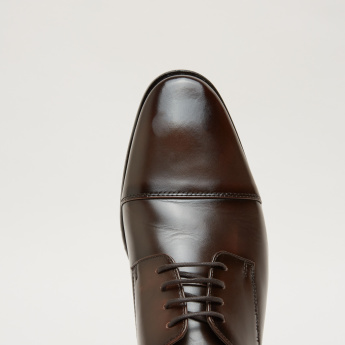 Stitch Detail Derby Shoes