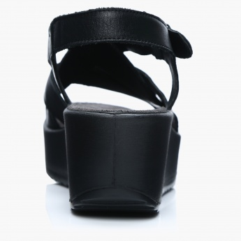 IMAC Cross Strap Sandals with Buckle Closure