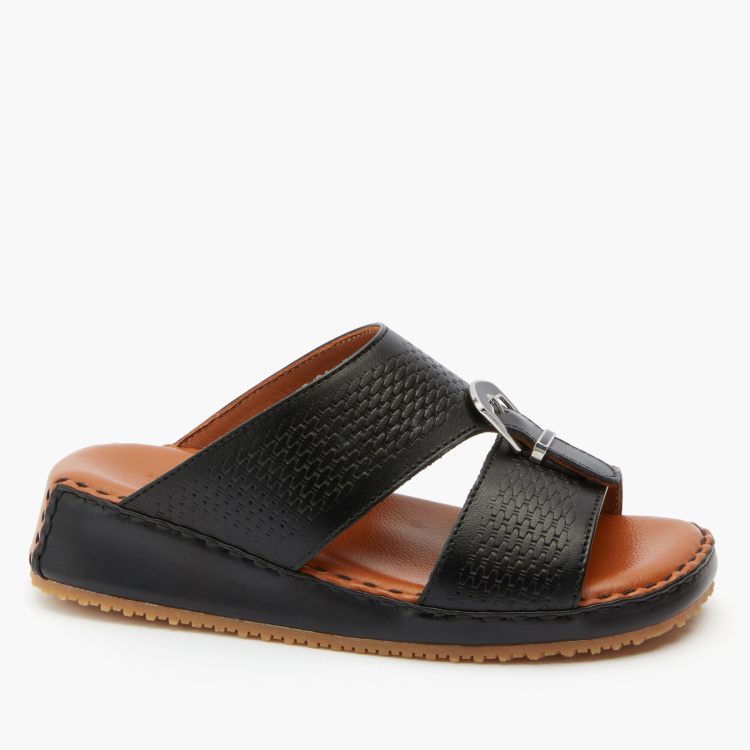 Barefeet Textured Arabic Sandals with Buckle Detail