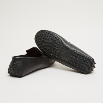Textured Loafers with Slip-On Closure
