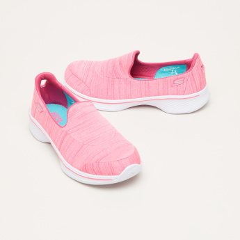 Skechers Slip-On Sneakers with Logo Detail