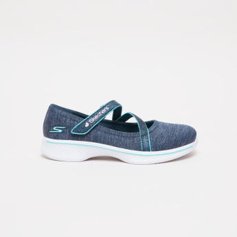 Skechers Slip-On Mary Jane Shoes with Cross Straps