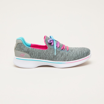 Skechers Textured Sneakers with Lace-Up Closure