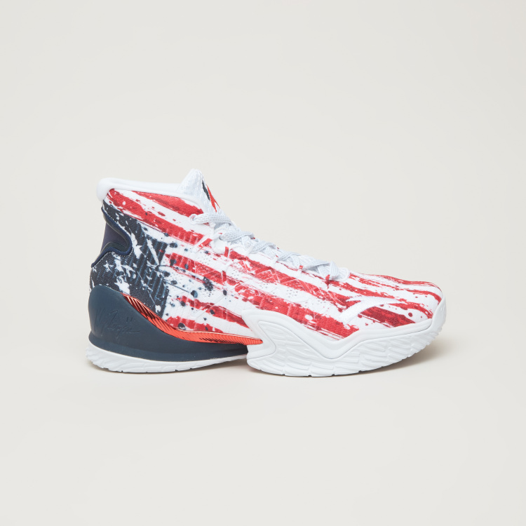 ANTA Men's Printed Basketball Shoes with Lace Closure