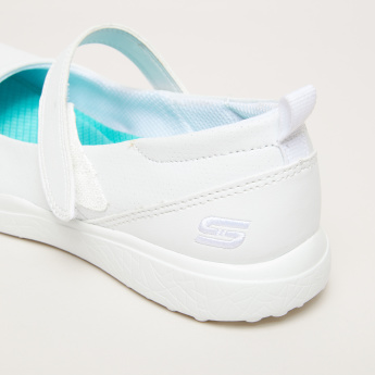 Skechers Stitch Detail Shoes with Hook and Loop Closure