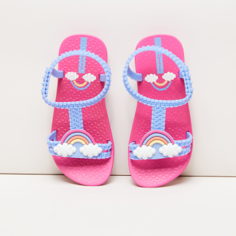 Ipanema Applique Detail Sandals with Ankle Strap
