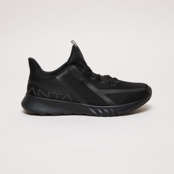 ANTA Textured Shoes with Logo Print
