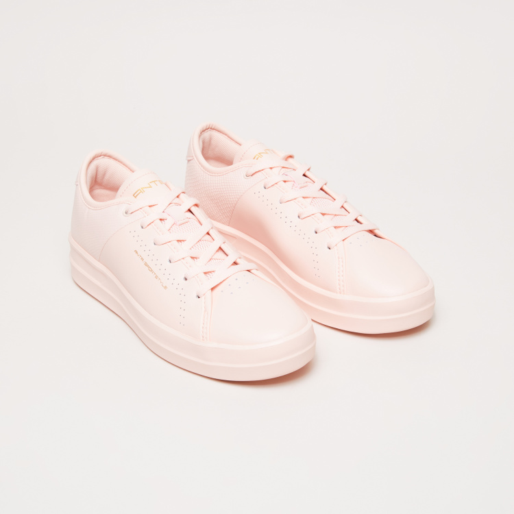 ANTA Perforated Lace-Up Walking Shoes