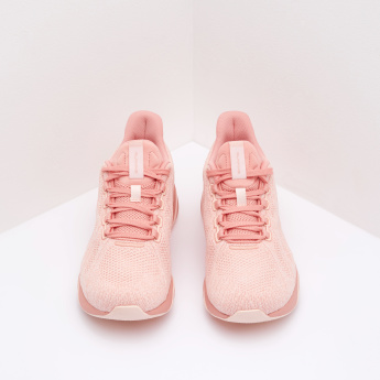 ANTA Mesh Panelled Walking Shoes with Lace-Up Closure