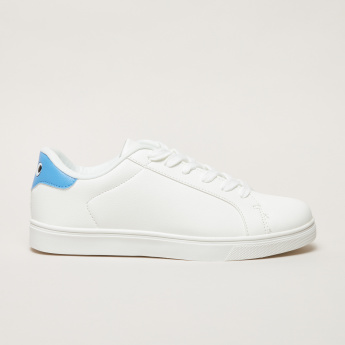 Stitch Detail Sneakers with Lace-Up Closure