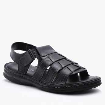 Duchini Slip-On Sandals with Hook and Loop Closure