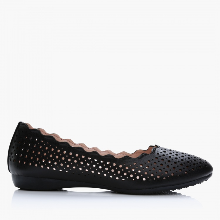 Jane Shilton Laser Cut Slip-On Shoes