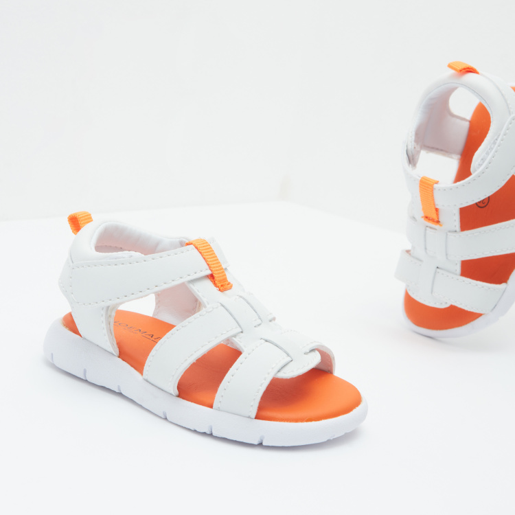 Strappy fisherman Sandals with Hook and Loop Closure