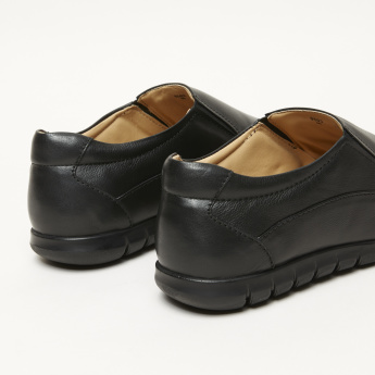 Duchini Textured Slip-On Shoes with Elasticised Gussets