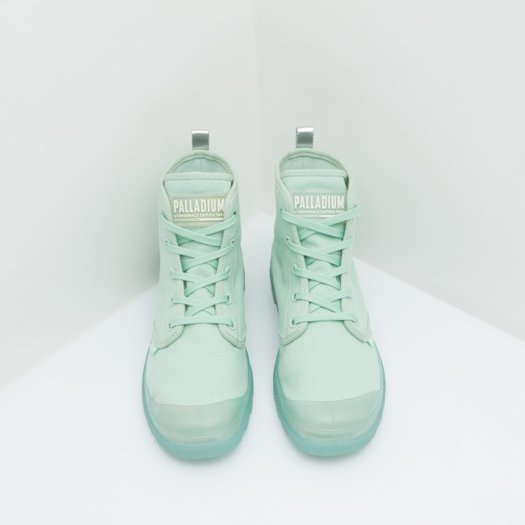 Palladium High Top Boots with Lace Up Closure