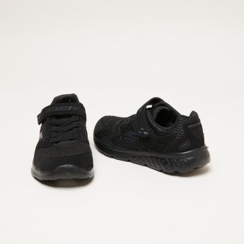 Skechers Textured Sneakers with Hook and Loop Closure
