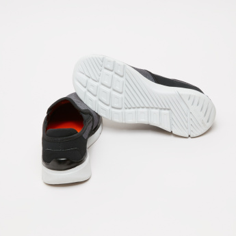 Skechers Textured Slip-On Sneakers with Elasticised Gussets