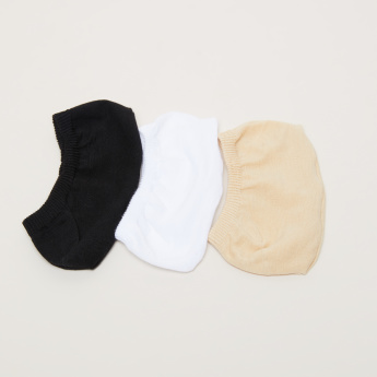 Paprika Assorted No-Show Socks - Set of 3