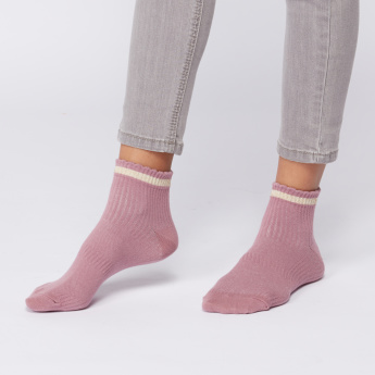 Ribbed Ankle Length Socks - Set of 3