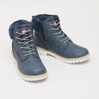 Lee Cooper Plush Detail High Top Shoes