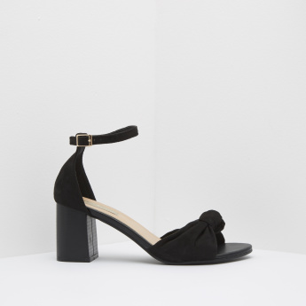 Knot Detail Sandals with Pin Buckle Closure