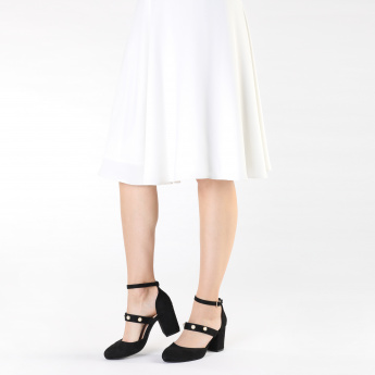 Missy Block Heel Shoes with Buckle Closure