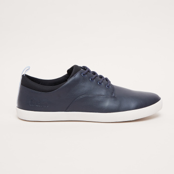 Lee Cooper Lace-Up Sneakers with Padded Ankle Collar