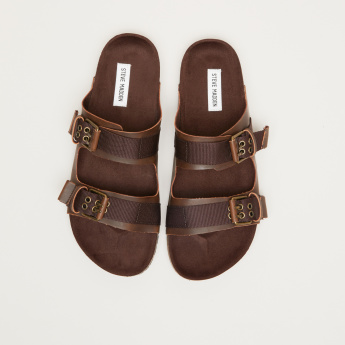 STEVE MADDEN Slides with Pin Buckle Accent
