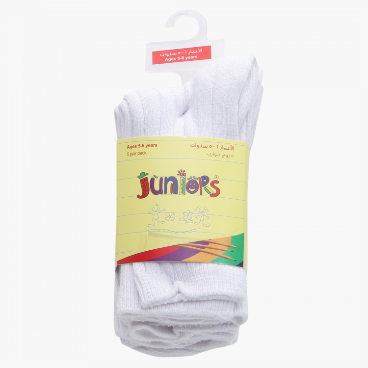 Juniors Crew Length Socks - Set of 5
